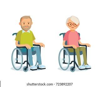 Seniors with wheelchairs