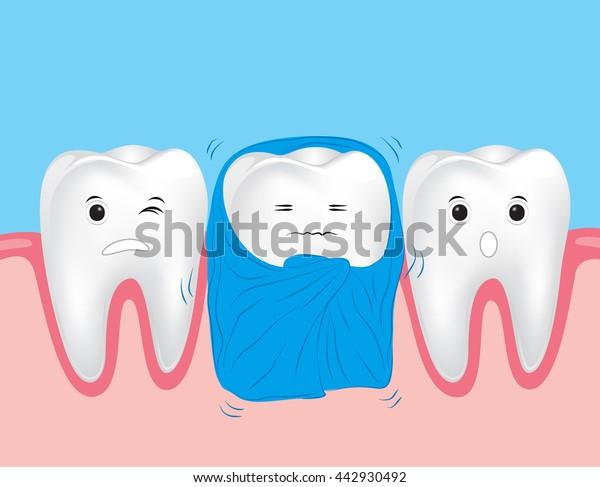 Vetor Stock De Dentes Sensiveis Dente Bonito Dos Desenhos Livre