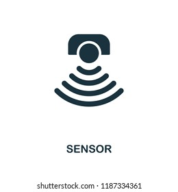 Sensor icon. Monochrome style design from machine learning collection. UX and UI. Pixel perfect sensor icon. For web design, apps, software, printing usage.