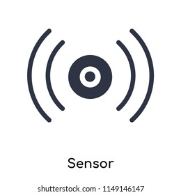 Sensor icon vector isolated on white background for your web and mobile app design, Sensor logo concept