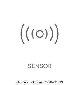 Sensor linear icon. Modern outline Sensor logo concept on white background from Smarthome collection. Suitable for use on web apps, mobile apps and print media.
