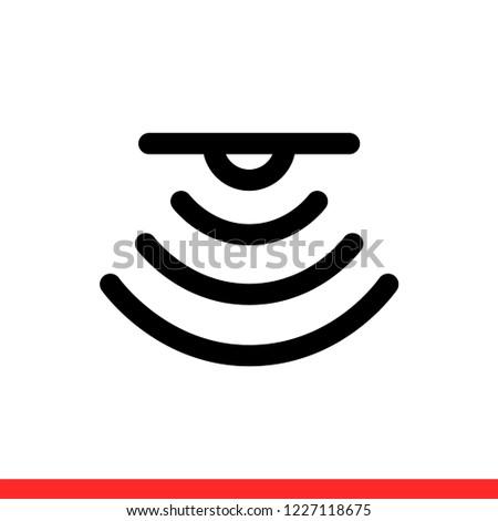 Sensor Vector Icon Signal Symbol Simple Stock Vector Royalty Free