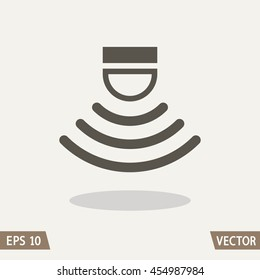 Sensor waves signal icon for websites and packing design. Vector illustration.