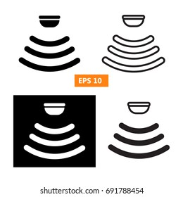 Sensor waves signal icons for websites and packing design. illustration.