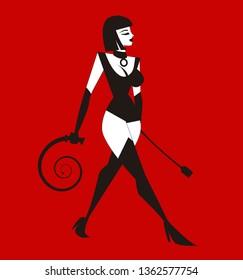 sensual female bdsm whip lady