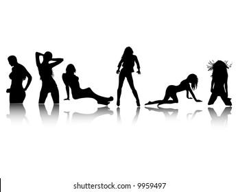 sensual vector woman illustrations
