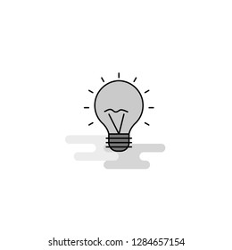 Seo bulb  Web Icon. Flat Line Filled Gray Icon Vector