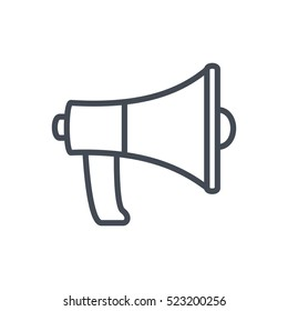 Seo Business Web Outlined Line Icon Vector Megaphone