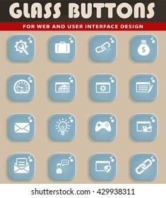 SEO and development simply symbols for web icons