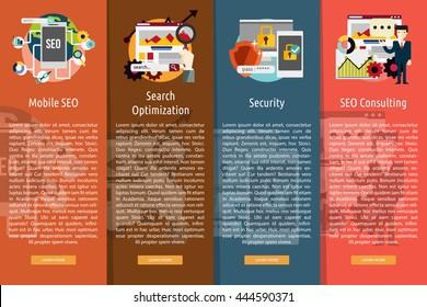 SEO and Development Vertical Banner Concept