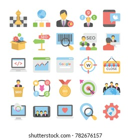 Seo and Digital Marketing Flat Colored Icons 6