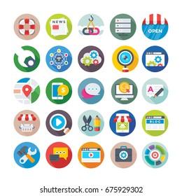 Seo and Digital Marketing Vector Icons 2