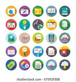 Seo and Digital Marketing Vector Icons 12