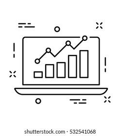 Seo Graph Vector Icon