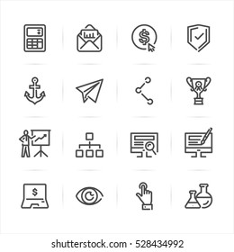 SEO and Internet icons with White Background