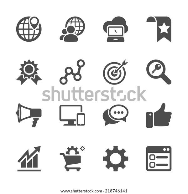seo and internet marketing icon set, vector eps10.