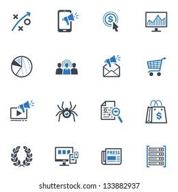 SEO & Internet Marketing Icons - Set 3   Blue Series