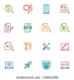 SEO & Internet Marketing Icons - Set 1 | Colored Series