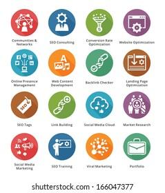 SEO & Internet Marketing Icons - Set 2 | Long Shadow Series