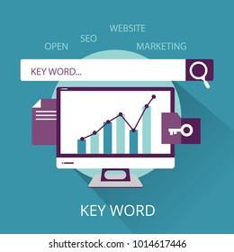 SEO Key Word concept
