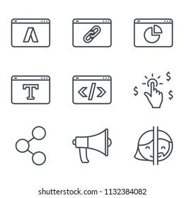 SEO line icon