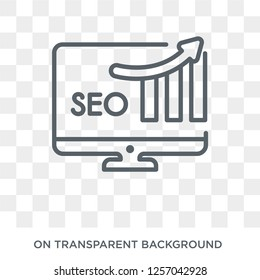 SEO Ranking icon. Trendy flat vector SEO Ranking icon on transparent background from Programming collection. High quality filled SEO Ranking symbol use for web and mobile