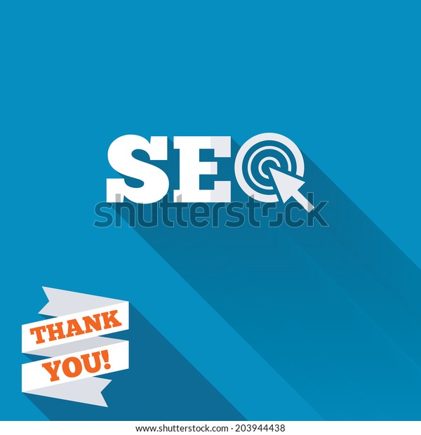 Seo Sign Icon Search Engine Optimization Stock Vector