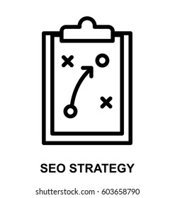 seo strategy line icon