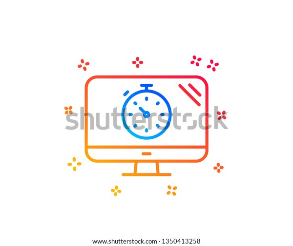 Seo Timer Line Icon Search Engine Stock Vector (Royalty Free