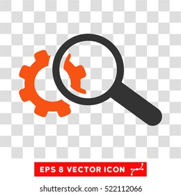 Seo Tools EPS vector icon. Illustration style is flat iconic bicolor orange and gray symbol on white background.