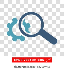 Seo Tools EPS vector icon. Illustration style is flat iconic bicolor cyan and blue symbol on white background.