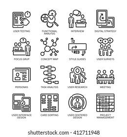 SEO & Usability Icons Set 1 - Line Series