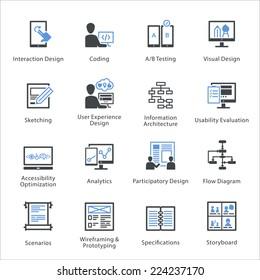 SEO & Usability Icons Set 2 - Bleu Series