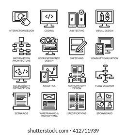 SEO & Usability Icons Set 2 - Line Series