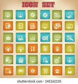 SEO vintage icons,vector