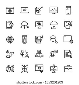 Seo and web line icons pack is here having advantageous vectors. Fix these icons and use as per your project needs. Don't waste time just grab and use in associated department.