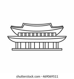 Seoul Korea culture house icon. Line illustration of Seoul Korea culture house vector icon isolated on white background