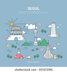 Seoul line layer set