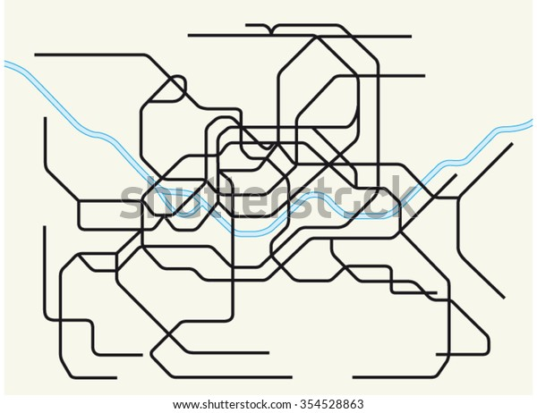 Eoul Subway Map.Seoul Metropolitan Subway Map Stock Vector Royalty Free 354528863