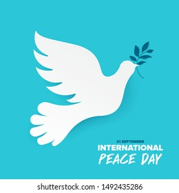 Sep 21 , international peace day. Illustration concept present peace world. Vector illustrate.