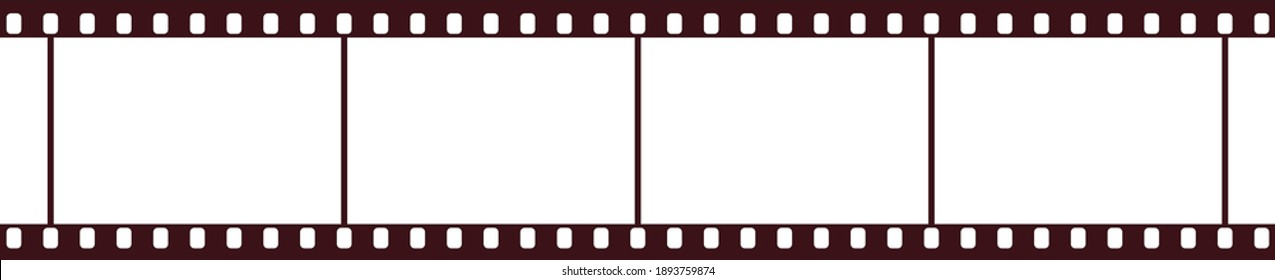 Sepia-colored movie film that can be used as a banner