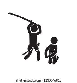 Seppuku suicide icon. Vector.