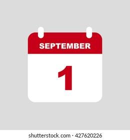 SEPTEMBER 1 calendar Icon.