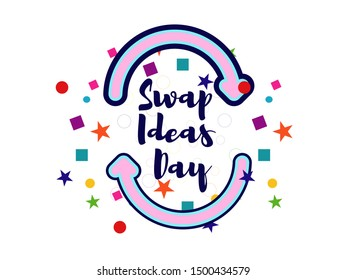 September 10 is Swap Ideas Day. share thoughts, barter goods. Banner vector design