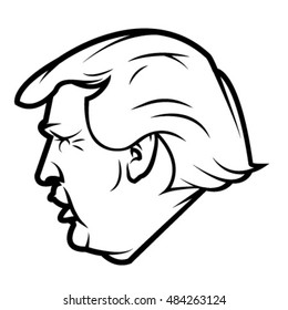 September 17, 2016: Donald Trump, republican presidential candidate. Sport style sign. Vector illustration.
