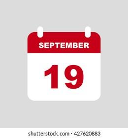 SEPTEMBER 19 calendar Icon.