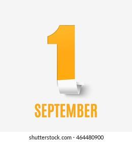 September 1st. Back To School background. Poster, greeting card or brochure. Vector illustration.