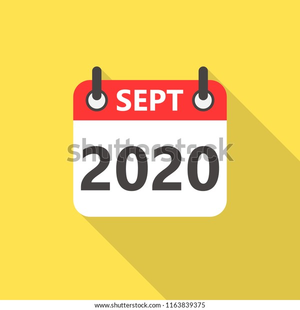 Calendar Sept 2020.September 2020 Calendar Flat Style Icon Stock Vector Royalty Free