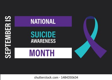September is National Suicide Awareness Month.  . Vector EPS 10.