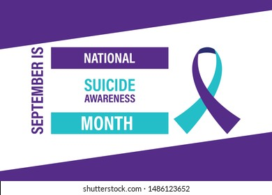 September is National Suicide Awareness Month. Design for poster, greeting card, banner, and background. Vector EPS 10.